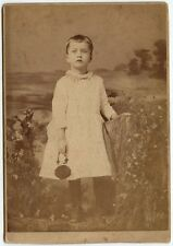 YOUNG GIRL WITH PURSE BY TOBIAS, PERTH-AMBOY, NJ, CABINET CARD