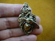 (b-bee-7) Bee bumble bees insect bug rose love honey brass pin pendant brooch