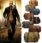 Men's Vintage Canvas Leather School Military Shoulder Messenger Bag New