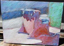 FINE MID CENTURY MODERNIST MODERN BAY AREA ARTIST OIL PAINTING STACEY SCHUETT