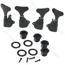 New Black Guitar Sealed Tuners Tuning Pegs Machine Heads 2R2L For 4 String Bass