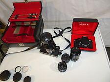 Leica Fotoausrüstung R3, R4, 50mm Summicron, Elmarit 35mm und 135mm, Zoom80-200