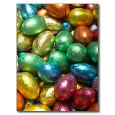 "*Postcard-""Happy Easter"" ...Colorful Chocolate Easter Egg Candy"" (A-38)"