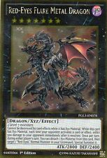 YUGIOH CARD  PGL3-EN078 RED-EYES FLARE METAL DRAGON    Gold  Rare -