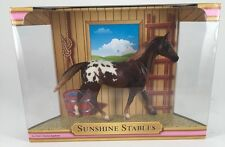 "BRAND NEW ""BREYER ""SUNSHINE STABLES""..in box ""CHESTNUT APPALOOSA HORSE SET"