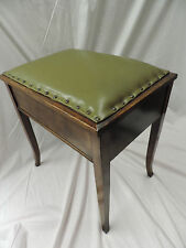 Antique Mahogany Piano Stool Victorian Boxseat Music Box Sewing *Can Deliver*