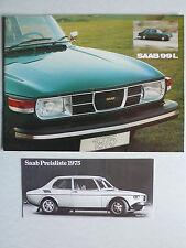 Prospekt Saab 99 L Modell 1975, 1974, 20 Seiten + Preisliste für Österreich