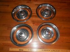 """NICE HEAVY-CHEVROLET CHEVY Chevelle Camero SS 14"""" CENTER CAP AND BEAUTY RING set"""