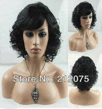 Fashion Women Curly Wig Short Black Curly Natural Hair Wigs Free Shipping