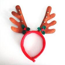 Reindeer Christmas Antlers Bells Hairband Hoop HeadBand Dress Xmas Party
