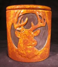 Self Watering Ceramic Flower Pot/Planter/Cup With Removable Insert - Deer Bust
