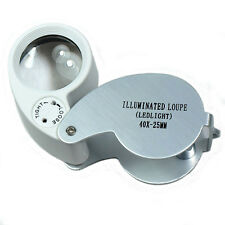 Jewellers Jewelry Loupe Magnifier Eye Magnifying Loupe Glass Pocket 40X HOT