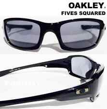 NEW* Oakley FIVES Squared BLACK Shiny with Grey Lens Sunglasses 9238-04 $AVE!