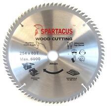 Spartacus Wood Cutting Table Saw Blade 254 mm x 80 Teeth x 30mm Bosch GTS 10XC
