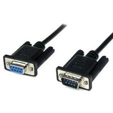 StarTech SCNM9FM2MBK 2m Black DB9 RS232 Serial Null Modem Cable F/M - Serial