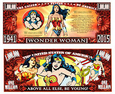 Wonder Woman Million Dollar Collectible Funny Money Novelty Note