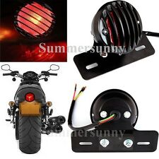 BRAKE TAIL LIGHT LICENSE PLATE MOTORCYCLE FOR BOBBER CAFE RACER CLUBMAN ROUND A1