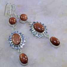 "FREE SHIPPING SUN SITARA EARRINGS 3 1/4""; K33444"
