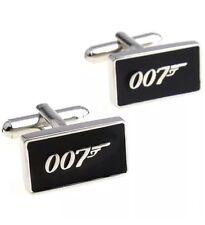 Men's Black 007 Bond Cufflinks FREE Gift Box! Novelty Design Cuff-links James UK