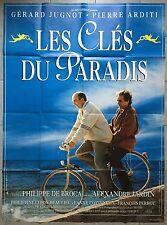 Affiche LES CLES DU PARADIS Pierre Arditi GERARD JUGNOT De Broca 120x160cm *