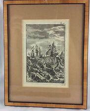 Zwei Kupferstiche 17./18. Jahrhundert, Buchentnahmen, 1x Himmelskarte, 1x Marine