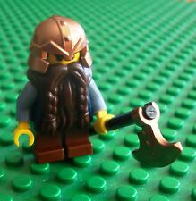 Lego Castle Dwarf Brown Beared Axe Minifigs Dwarves