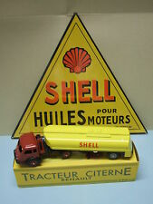 RENAULT FAINEANT CITERNE SHELL 1000ex certificat 1/50 CIJ NOREV + PLAQUE SHELL