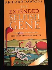 SIGNED IN PERSON RICHARD DAWKINS*The EXTENDED SELFISH GENE*2016 HCDJ 1ST/1ST WOW