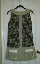 NUVULA Retro Cut-out Geometric Print Mini Dress ~ SZ XS ( 2 or 4 )  ~ Fabulous!