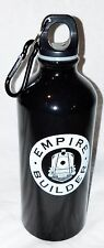 Empire Builder Black Metal Water Bottle Canteen Flask With Clip New Free Ship