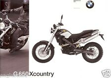 Motorcycle Brochure - BMW - G 650 Xcountry - 2007 (DC354)