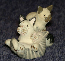 """Peter Fagan Colour Box Cats """"Triple Trouble"""" 3 Cats playing 3.5cm x 2.5cm"""