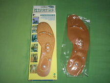 Lady's One Size Foot Magnet Acupuncture Therapy Massage Shoe Boots Insoles Pair