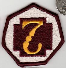 Original US ARMY Vietnam Desert Storm era Color Patch 7th MEDICAL BRIGADE