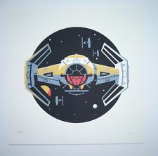"""DKNG screen print """"X1"""" Darth Vader's tie fighter Star Wars s/n SOLD OUT Icon"""