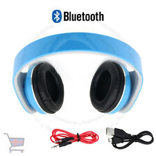 Foldable Wireless Bluetooth 4.2 Stereo Headphones Handsfree Blue with Cable UKES