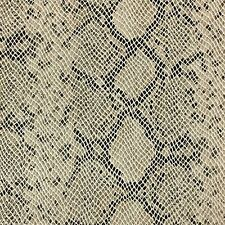 """54"""" Wide Faux Python Snake Skin Leather Bleach Beige Fabric By The yard"""