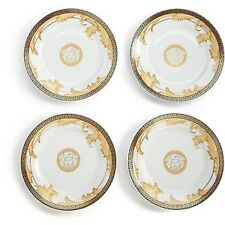 Rosenthal Meets Versace Arabesque Champagne Canape Medusa Plates, Set of 4
