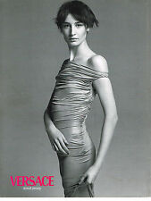 PUBLICITE ADVERTISING 094  1998  VERSACE  haute couture DONDI JERSEY