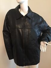 NWT GV HANDMADE IN ITALY MEN LEATHER JACKET SIZE XL   MUST SEE