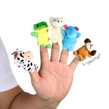 10pcs Finger Puppets Cloth Doll Baby Kids Educational Hand Cartoon Animal Toy