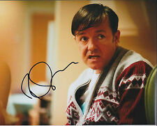 Ricky GERVAIS SIGNED Autograph Photo AFTAL COA The Office Derek Idiot Abroad