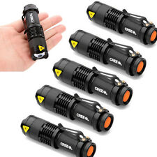 6X Mini CREE Q5 LED  Adjustable Focus Flashlight Torch 7W 1200LM Zoom Light Lamp