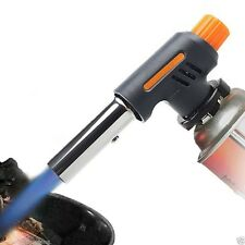 AUTO IGNITION Gas Gun Blow-Torch Flame Solder Butane Burner Camping Welding BBQ