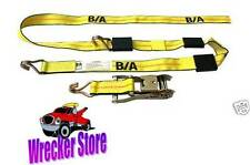 ROLLBACK CAR HAULER TRAILER TRANSPORT PORTS CAR TIE DOWN STRAPS - SET OF 4
