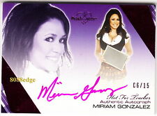 2012 BENCHWARMER HOT FOR TEACHER AUTO: MIRIAM GONZALEZ #6/15 AUTOGRAPH PLAYMATE