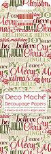 Luxury Decoupage Paper Deco Mache Decopatch Vintage Christmas Words Text
