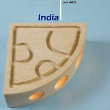 Lampada da parete artigianale in pietra Leccese - applique MODELLO INDIA