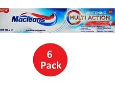 6 x MACLEANS 120g TOOTHPASTE WHITENING MULTI ACTION 100% Brand New