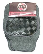MG TF (02-05) Grey 650g Velour Carpet Car Mats - Salsa Rubber Heel Pad